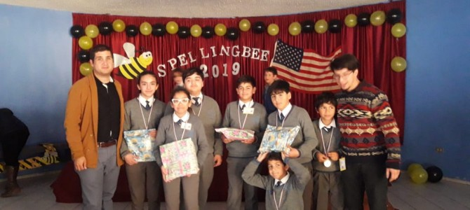 ! 1st place Spelling Bee. Congratulations ¡